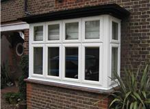 PVCu square bay window