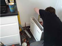 Boiler Service, Radiator fitted and bled and system flushed.