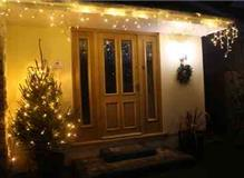 Christmas lights. Pine Ridge B&B Broadstone.