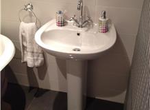 Complete bathroom refurbishment with new layout at Surbiton, Surrey, KT6