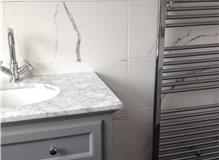 Bathroom refit and change in configuration at Earlsfield, London, SW18