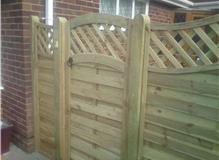 Installation of gate and fencing to front of property.