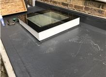 New GRP flat roof & Triple glazed glass sky light