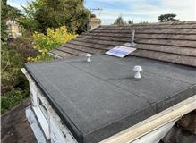 New 3 layer felt flat roof, ply boarding and ventilation.