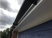 New UPVC fascia boards, soffit boards and guttering.