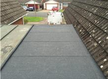 New garage flat roof using Felt 3 layer torch on system