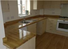 New solid oak work tops fitted