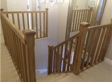 The Woodworker fit oak staircase