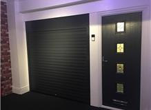 Showroom anthracite grey doors