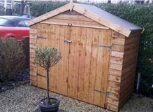 erect bicycle shed