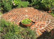 Reclaimed brick circle