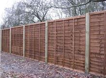BROWN LAP PANELS WITH WOODEN POSTS
