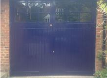 Garage Doors painted. AH painting and Decorating. Wimbledon