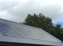 In roof tile PV system for slate roofs