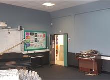 Music room redecorating St Vincent College, Gosport.