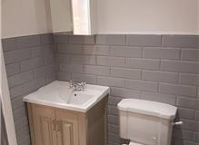 Bathroom fitted to a recent extension
