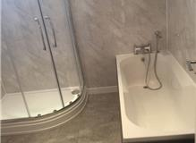 Clients bath and new shower enclosure