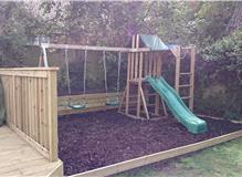 Climbing frame erected