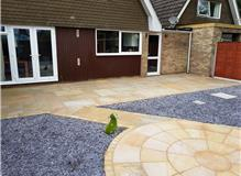 Main Patio in Indian Sandstone, West Moors