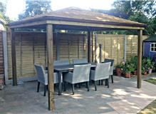 Verwood gazebo,patio extension and fencing.