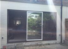 A set of 3 pane Schuco ASS70FD bifold doors we installed last year. RAL 8017.