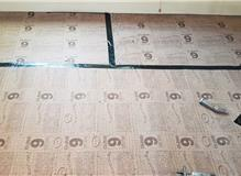 Oak flooring installation