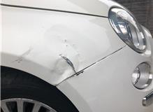 Bentley with damage