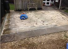 RESIN BOUND CAR PORT laid in 1-3mm golden pea stone