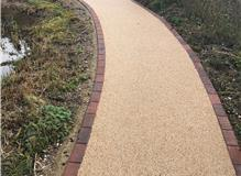 Dorset gold finish with a brindle brick edging