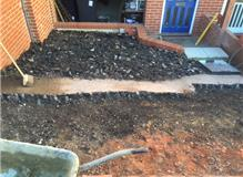 ground work and building of new retaining wall