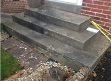 before picture of old damaged concrete steps