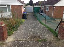 Resin bound drive .. before picture