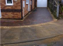 Blockpaving driveway