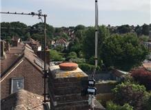 Wideband aerial with amplifier and splitter, Chislehurst