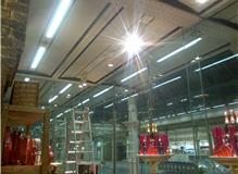 Track lighting installation
