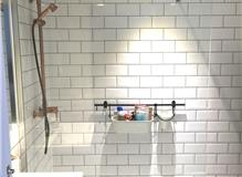 Completed shower area