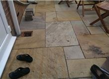new natural paving patio