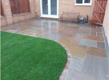New lawn and patio