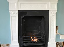 Installation of customer purchased cast iron fireplace