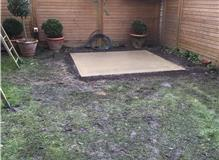 hot tub base with new 32amp electrical supply for make a wish foundation