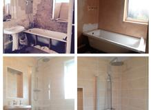 Bathroom Installed & Tiled By Whitfield Plumbing & Heating. 01743 624123