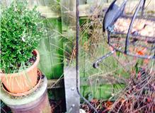 Old fencing secured by N J Vincent|Groundwork and Fencing Services