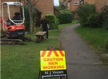 Soak away installation in Woodcote,near Reading,Wallingford.