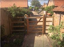 Pedestrian Hard wood gate
