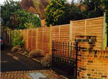 6x6 Wany edge panels supplied & installed by N J VincentGroundwork and Fencing Services