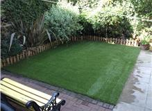 Artificial lawn laid due to pets destroying natural lawn