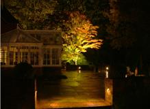 Garden lighting scheme, landscaping project Turners Hill