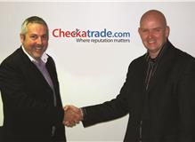 Gordon Bunday with Kevin Byrne Founder & CEO of Checkatrade.com