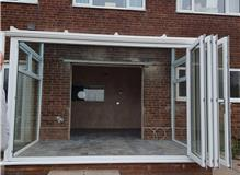 Conservatory with easy fold doors