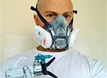 Masked up ready to spray!